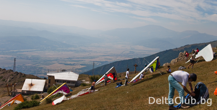 Hang gliding meeteng in Sopot